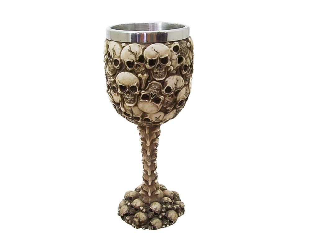 Teschio bicchiere H cm. 18