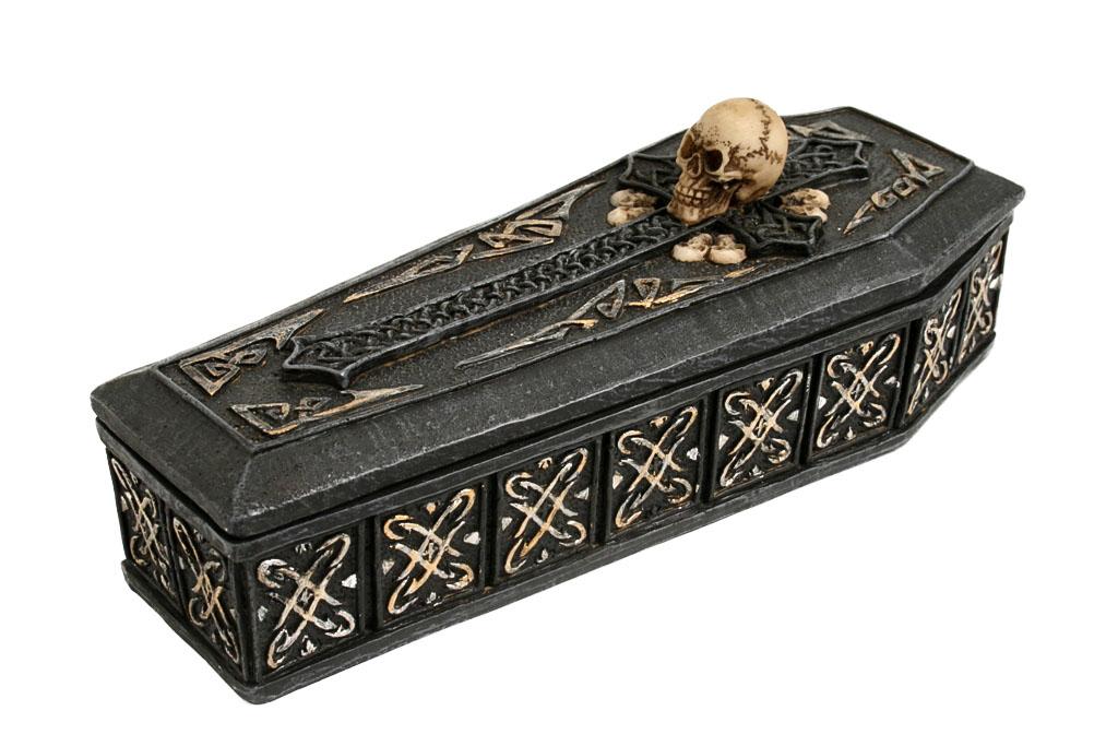 Teschio resina cassa con scheletro