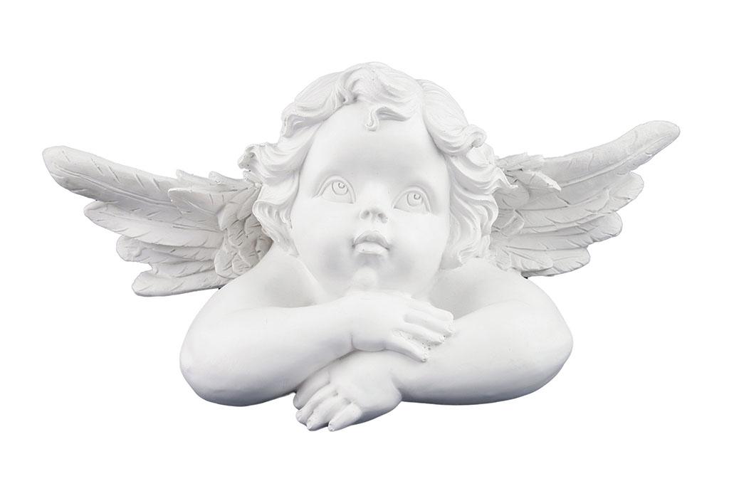 Angeli medio con braccia incrociate h cm. 8 lungh. cm. 21
