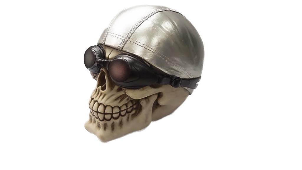 Teschio con cuffia e occhialini cm. 15x15