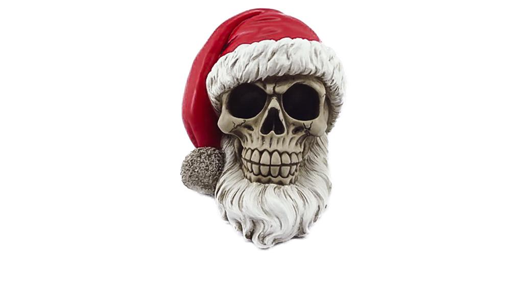 Teschio Babbo Natale cm. 15x15