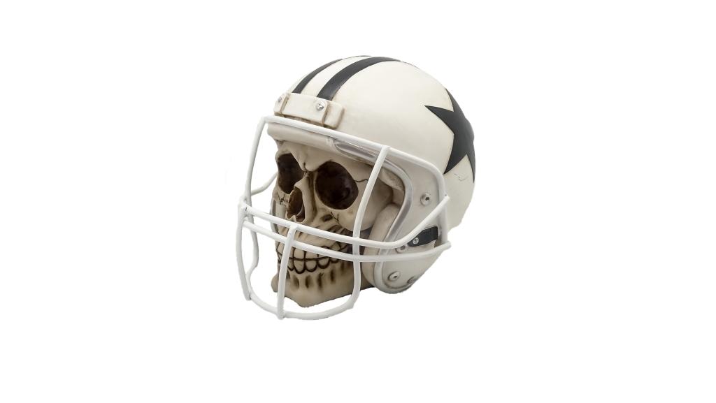 Teschio casco football H cm. 18x15