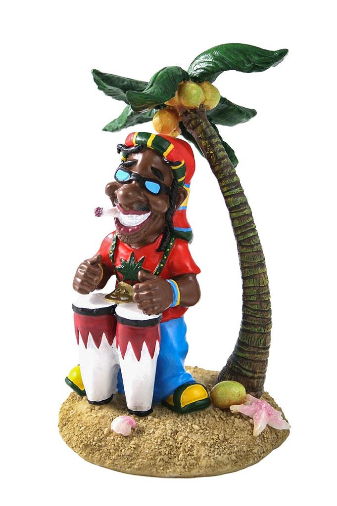 Rasta con bongo e palma