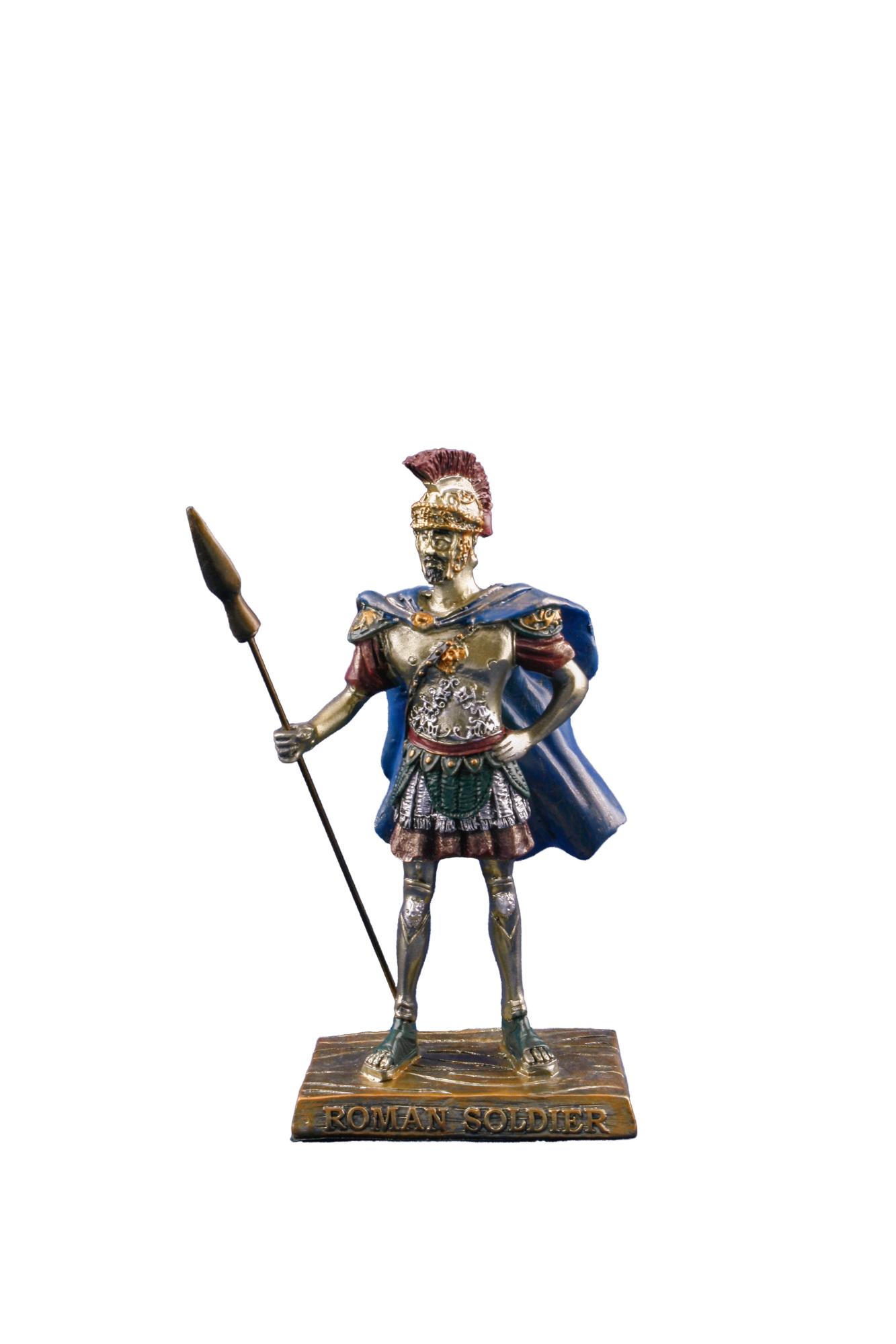 Soldato Bronzo Antico Soldato Romano H cm. 16