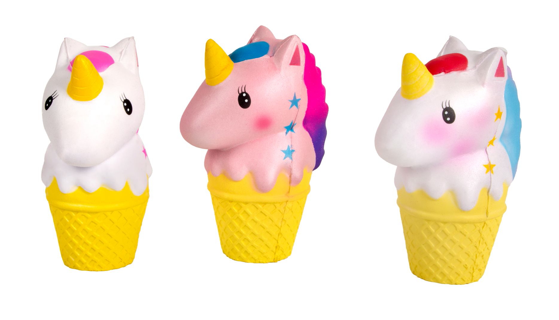 Squishy coppa unicorno set 3 ass. cm. 8x4