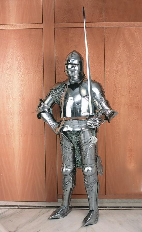 Armatura medievale acciaio indossabile h 200