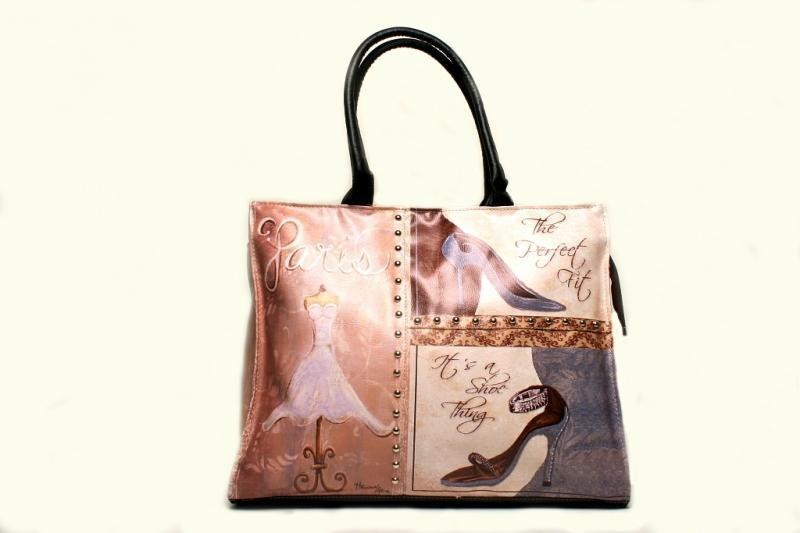 Borsa 4 decori ass.ti 43x14xh34
