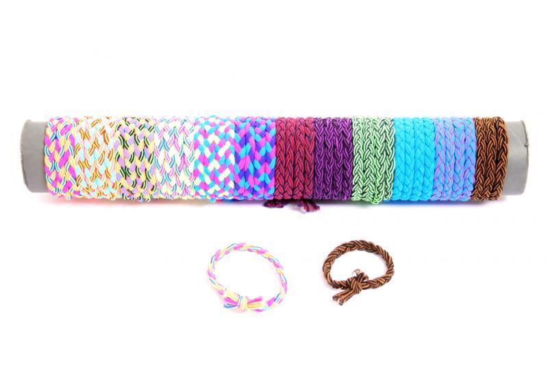 Bracciali filo cotone intrecciato colori as.ti