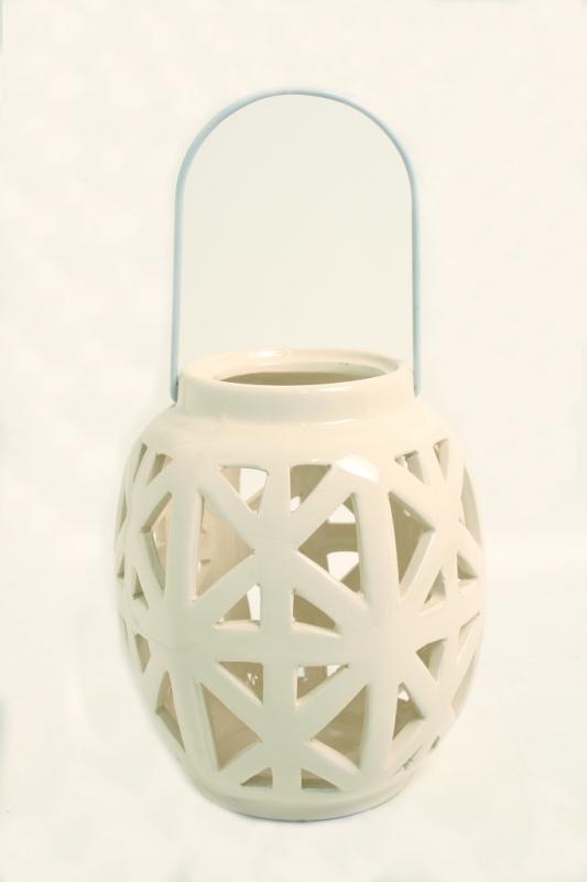 Lanterna media palla ceramica