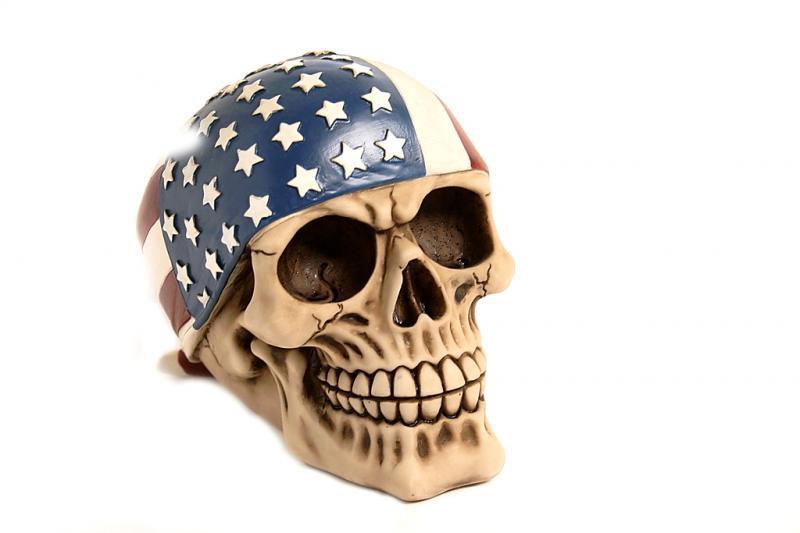 Teschio bandana America H cm. 15x15