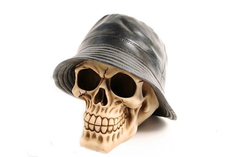 Teschio cappello pescatore H cm. 15x15
